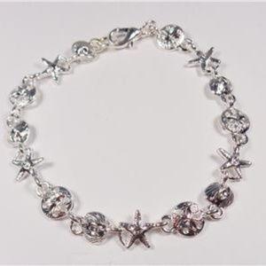 Jewelry - NAUTICAL SAND DOLLAR STARFISH SEA SHELL BRACELET